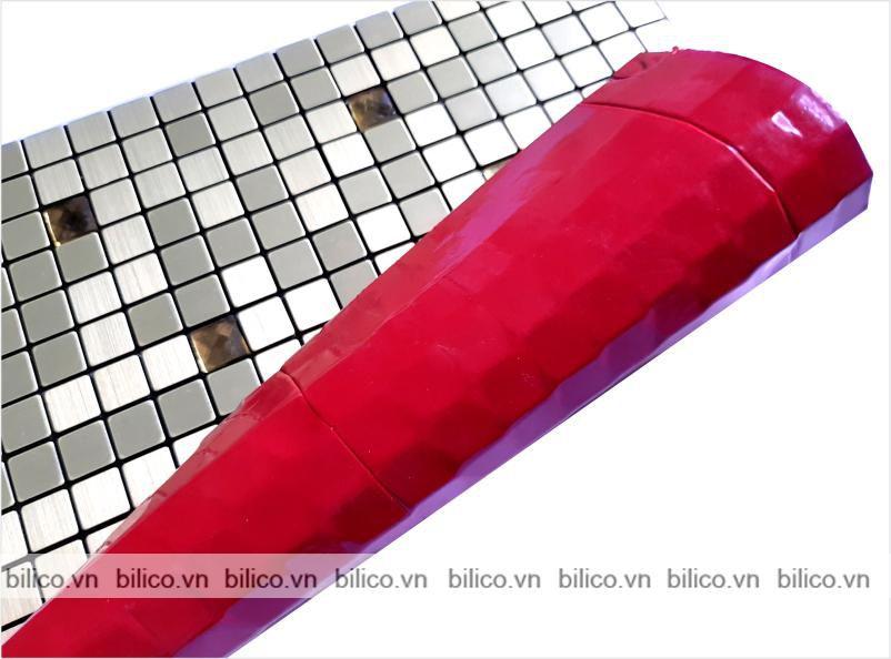 Hình ảnh vỉ gạch mosaic khảm nhôm BV011