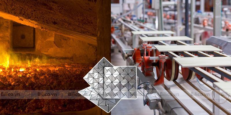 Dây chuyền sản xuất gạch mosaic hợp kim nhôm BV012