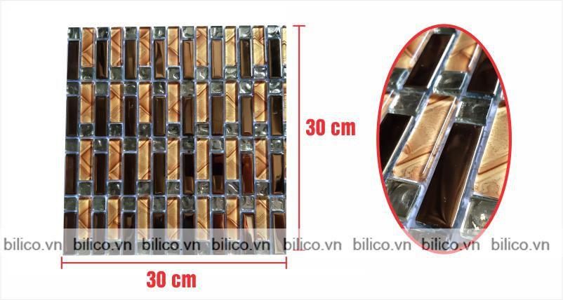 Kích thước vỉ gạch Mosaic BV019
