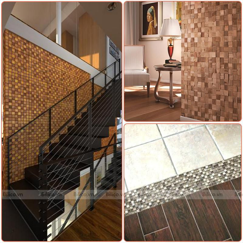 Ứng dụng gạch mosaic BV020 ốp lát nội thất