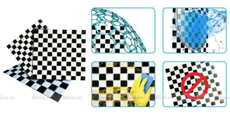 Ưu điểm gạch mosaic BV25Đ4