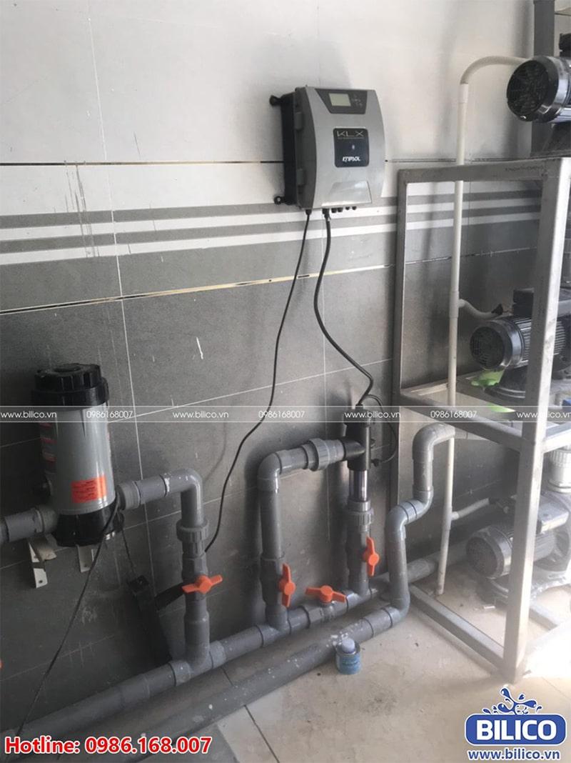 Bộ điện phân muối đã được lắp đặt hoàn chỉnh