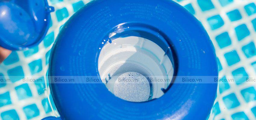 Ứng dụng clo viên 200gram trong xử lý nước hồ bơi