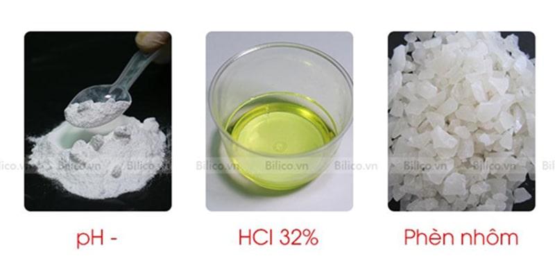 3 Hóa chất xử lý khi nồng độ pH cao