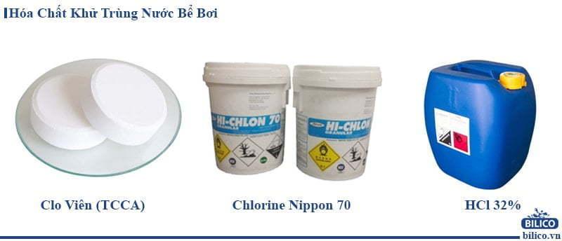 hóa chất khử trùng nước bể bơi