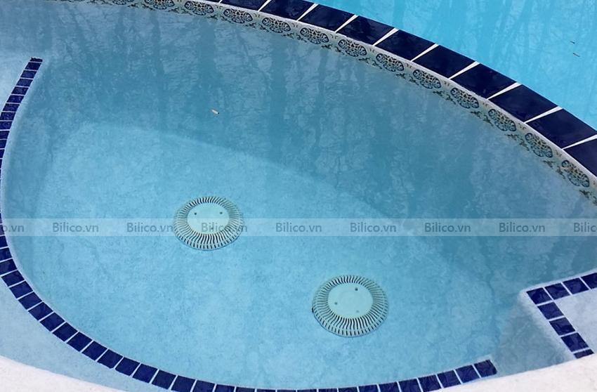 Ứng dụng hộp thu đáy bể bơi Aquareva Procopi
