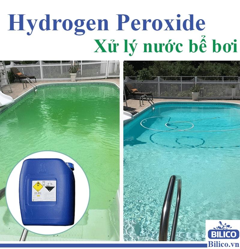 Hydrogen Peroxide ứng dụng trong xử lý nước bể bơi