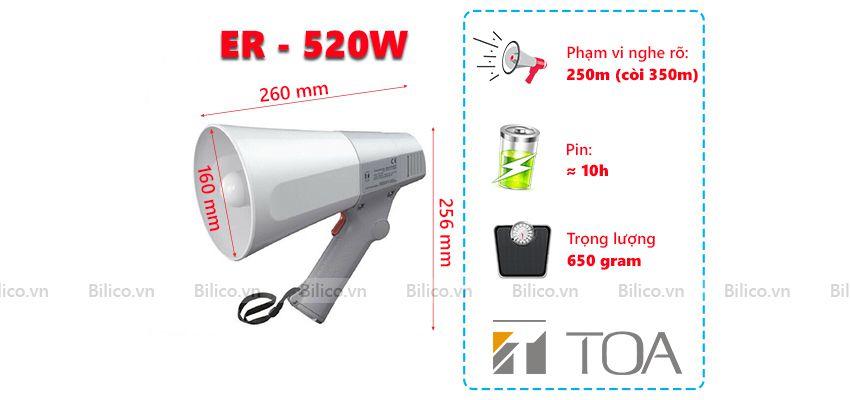 Thông số Loa cầm tay 10W toa ER - 520W