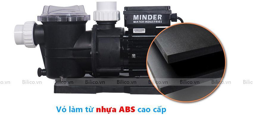 Vỏ máy bơm bể bơi Minder MVP làm từ nhựa ABS cao cấp chống tia cực tím