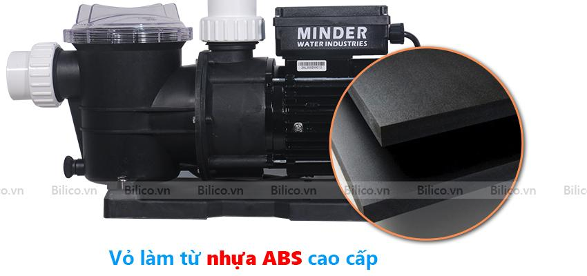 Vỏ máy bơm bể bơi MVP100 được làm từ nhựa ABS siêu bền