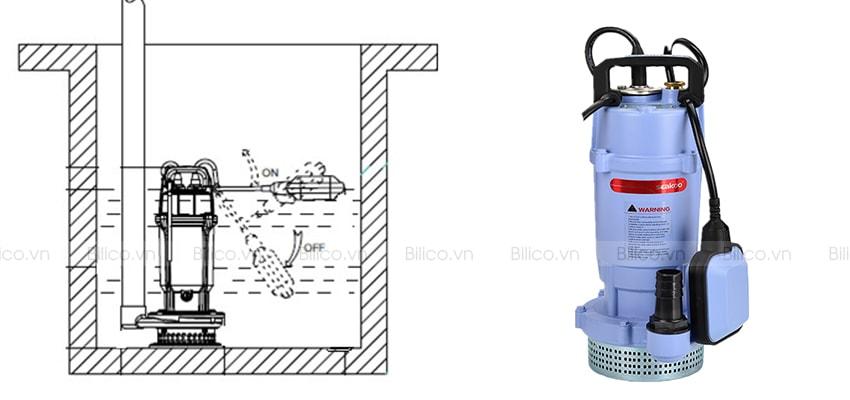Lắp đặt máy bơm chìm QDX 40 – 6 – 1.1