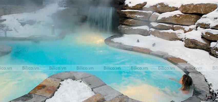 Ứng dụng máy bơm nhiệt bể bơi Midas public 55