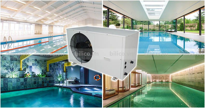 Ứng dụng máy bơm nhiệt bể bơi Sirac LSQ02RC