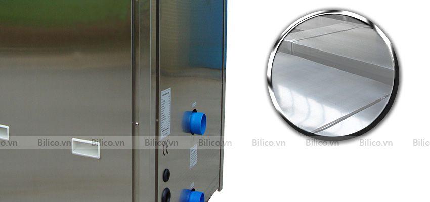 Vỏ máy bơm nhiệt bể bơi Sirac LSQ03RP- S làm từ thép không gỉ