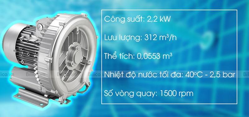 Thông số máy thổi khí con sò Kripsol SKH300T1