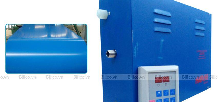 Vỏ máy xông hơi ướt Heirva sơn xanh bóng bắt mắt