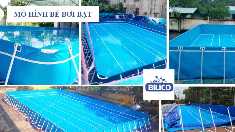 Mô hình kinh doanh bể bơi bạt tại nông thôn