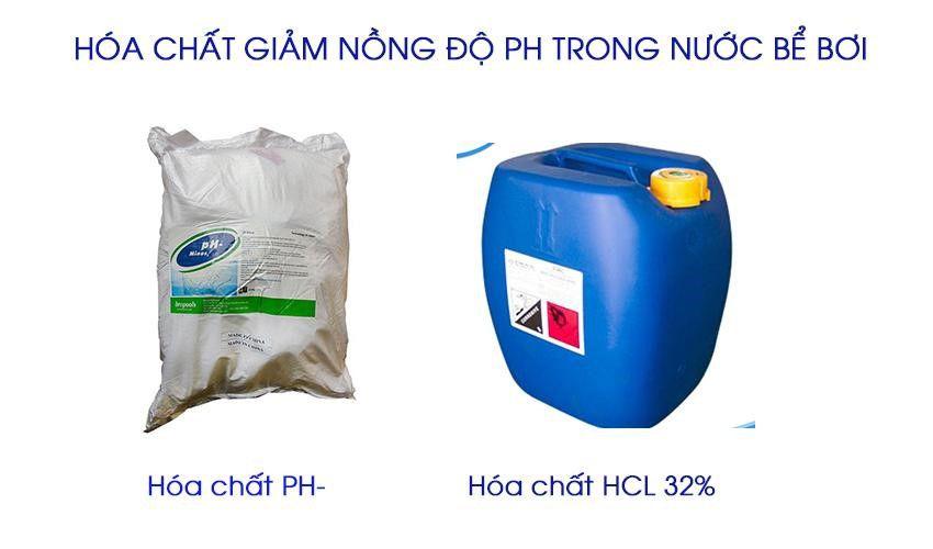 Hóa chất giảm pH trong nước bể bơi