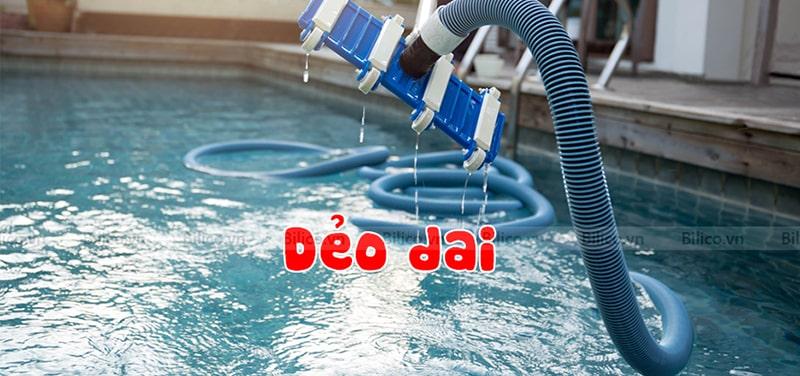 ống mềm hút vệ sinh bể bơi Emaux dẻo dai