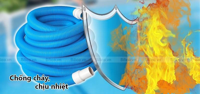 ống mềm hút vệ sinh bể bơi Midas chống cháy
