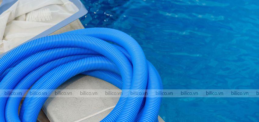 Ưu điểm ống mềm hút vệ sinh bể bơi Tafuma