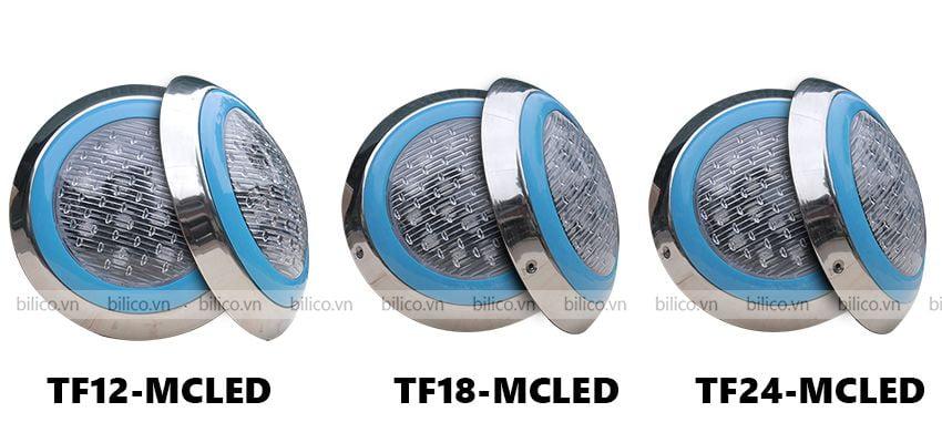 Hình ảnh những mẫu đèn bể bơi TF - MCLED với công suất khác nhau