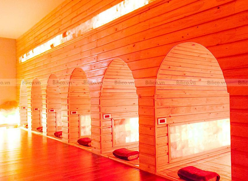 phòng xông hơi hồng ngoại tại Spa do Bilico lắp đặt