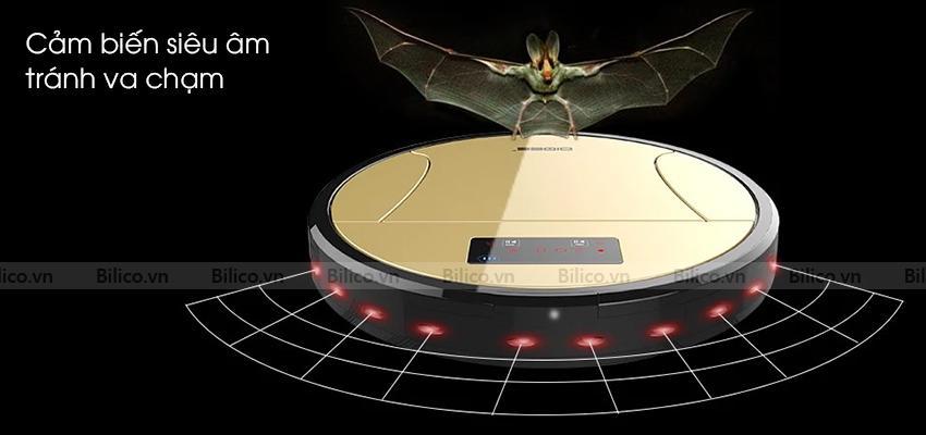 Robot lau sàn nhà 350 tích hợp cảm biến siêu âm tránh va chạm