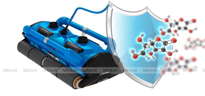 robot vệ sinh bể bơi icleaner 200D phủ lớp sơn tĩnh điện