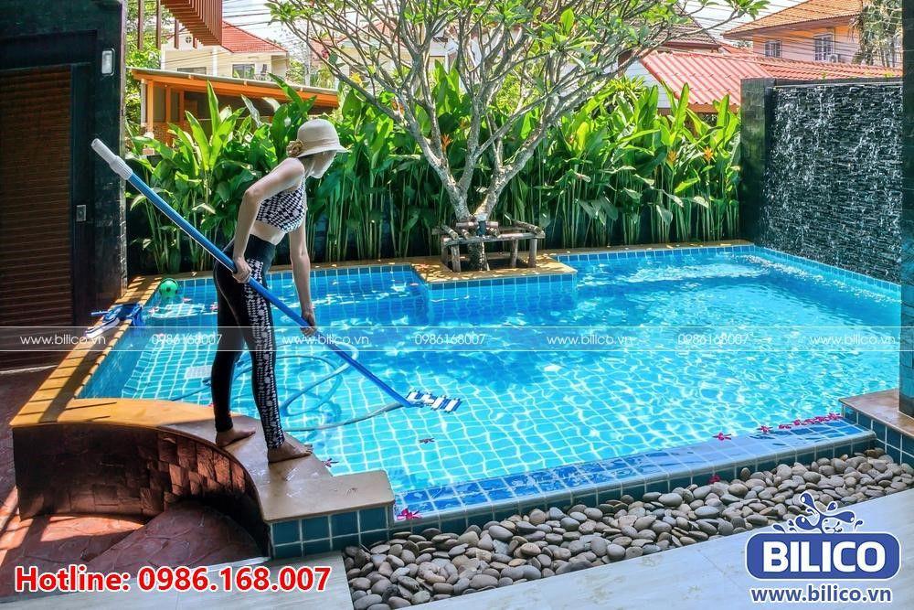 Công dụng sào nhôm bể bơi (hồ bơi) - Bilico