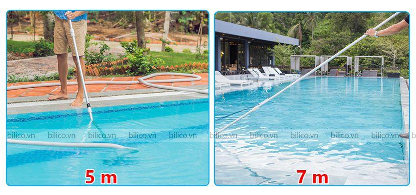 sào nhôm bể bơi SPS có hai loại 5m, 7m