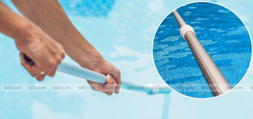sào nhôm bể bơi SPS có các gân chìm