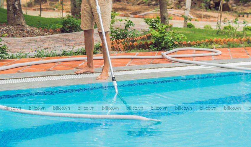 Ứng dụng sào nhôm bể bơi SPS