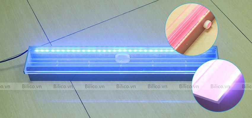 Thác nước thành bể bơi Emaux được trang bị đèn led