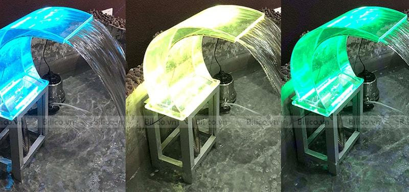 Hình ảnh thác xả tràn cong Acrylic màu sắc khác nhau