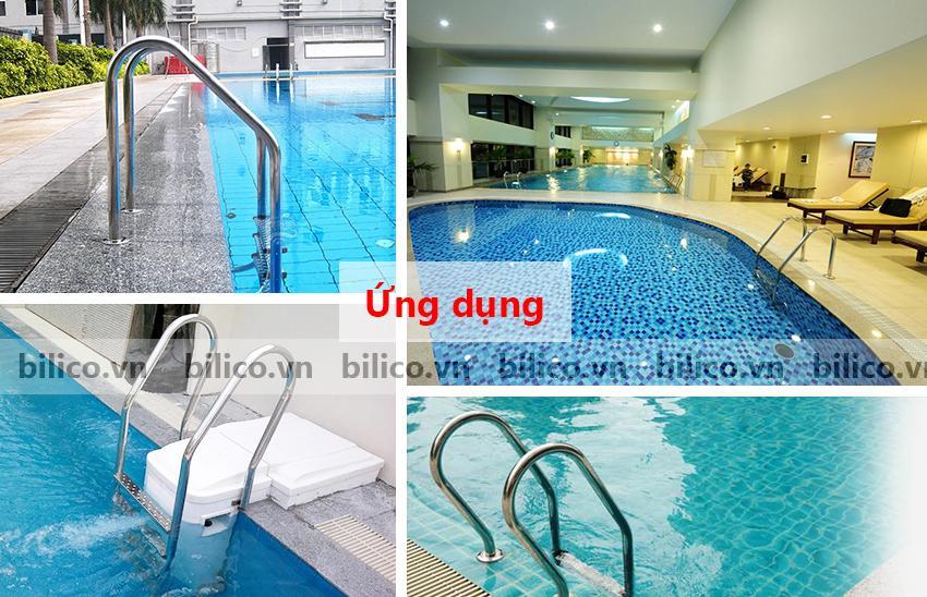 Ứng dụng thang bể bơi SF215