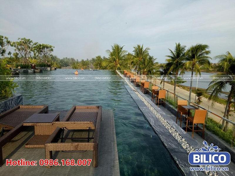 Bilico bàn giao bể bơi cho khu bể bơi nghỉ dưỡng Bãi Dừa, Quảng Ngãi