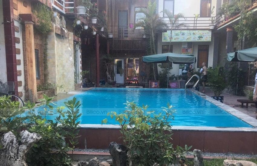 Ứng dụng bình lọc bể bơi Minder MS van ngang