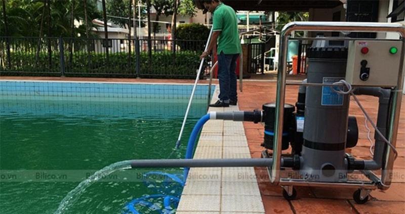 Ứng dụng thực tế máy bơm bể bơi Emaux 2HP