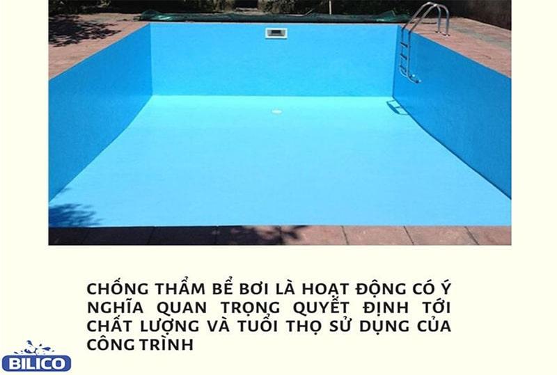 Vài trò của công việc chống thấm bể bơi, hồ bơi