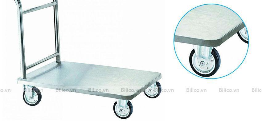 Xe đẩy vệ sinh bể bơi chuyên dụng từ inox không gỉ