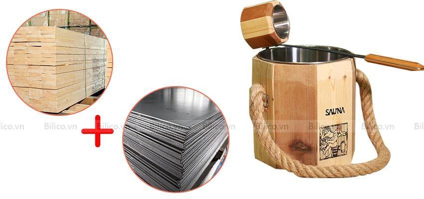 Cấu tạo bộ xô gáo gỗ sauna