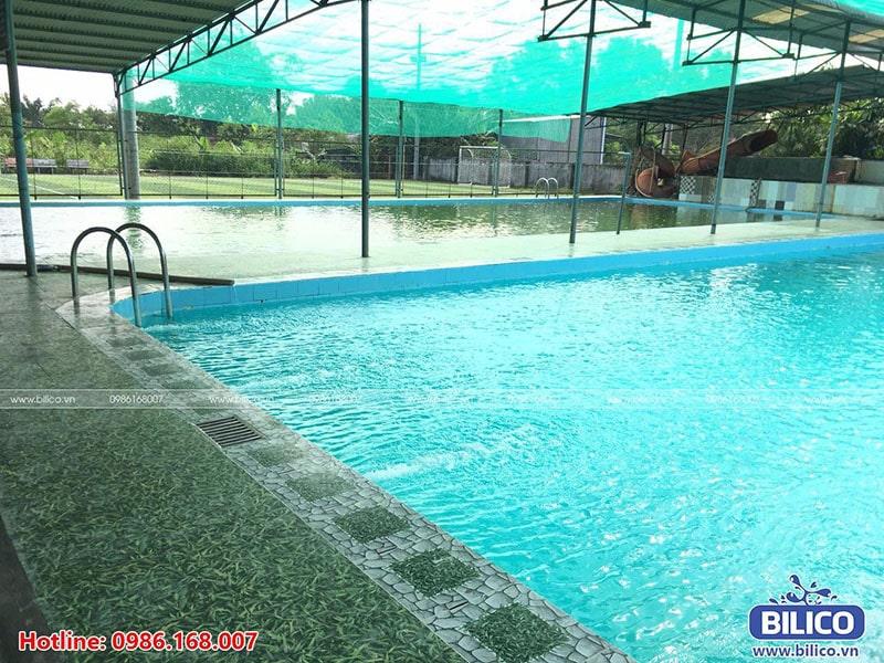 Xử lý nước bể bơi anh Trường TPHCM