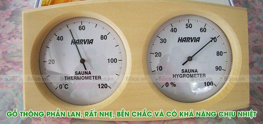 Đặc điểm số 3 nhiệt ẩm kế Harvia