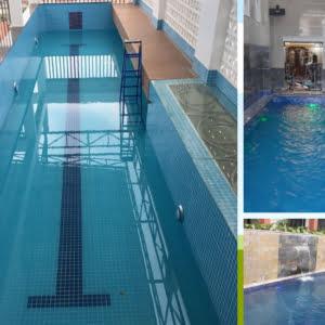 Bể bơi gia đình kiểu hẹp