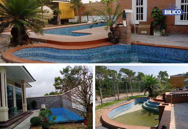 Bể bơi gia đình sân vườn