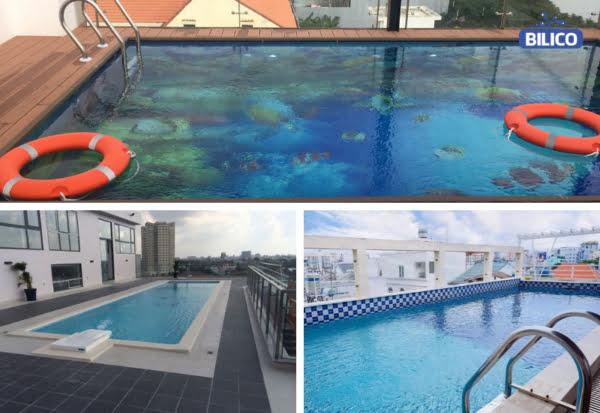 Bể bơi gia đình trên tầng thượng