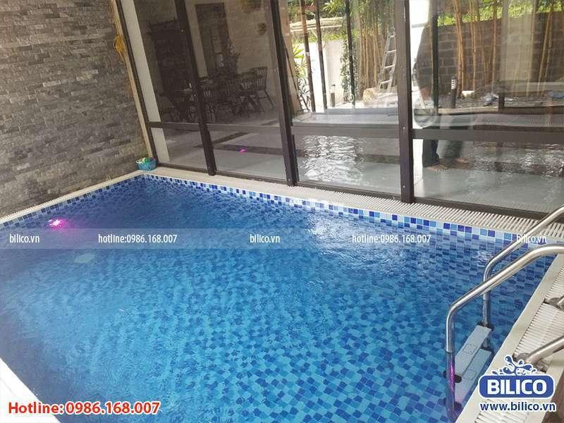 Công trình bể bơi anh Dũng Quốc Oai