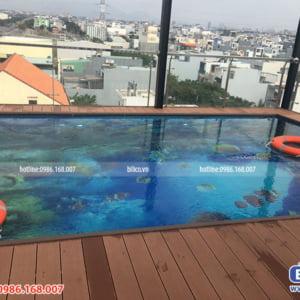 công trình bể bơi sân thượng số 1