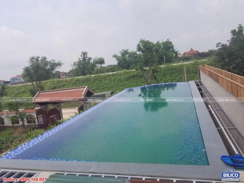 công trình bể bơi sân thượng số 2
